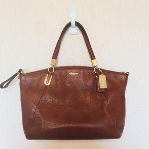 Coach Kelsey Brown Leather Handbag style 28095